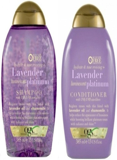 Organix Ogx Renk Koruyucu Lavender Platinum Şampuan 385 Ml + Saç Kremi 3 Renksiz